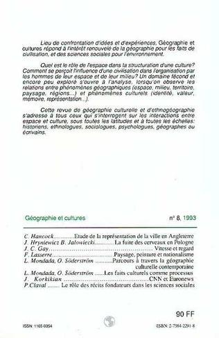 4eme Géographie et cultures n°8