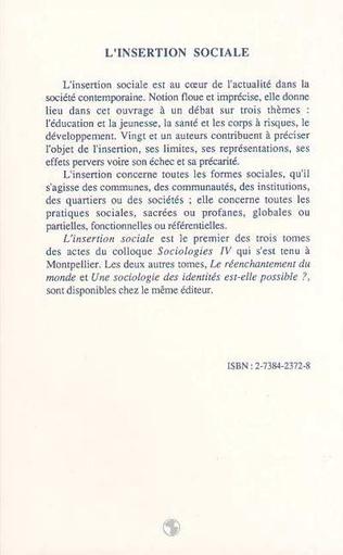 4eme L'INSERTION SOCIALE