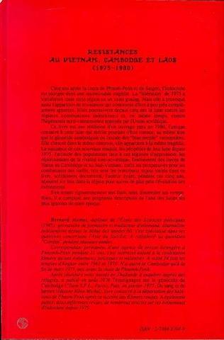 4eme Résistances au Viêtnam, Cambodge et Laos (1975-1980)