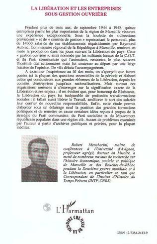 4eme La Libération et les entreprises sous gestion ouvrière
