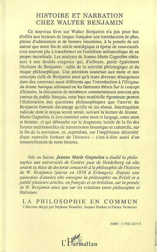 4eme Histoire et narration chez Walter Benjamin