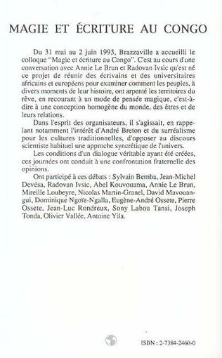 4eme Magie et écriture au Congo
