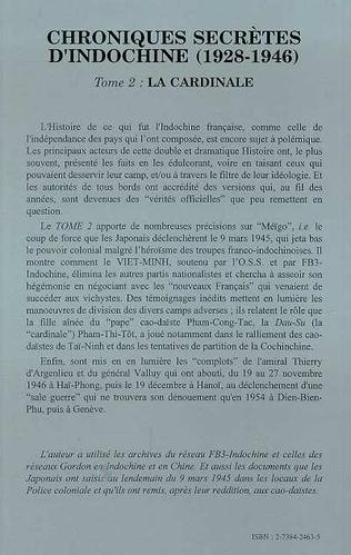 4eme Chroniques secrètes d'Indochine (1928-1946)