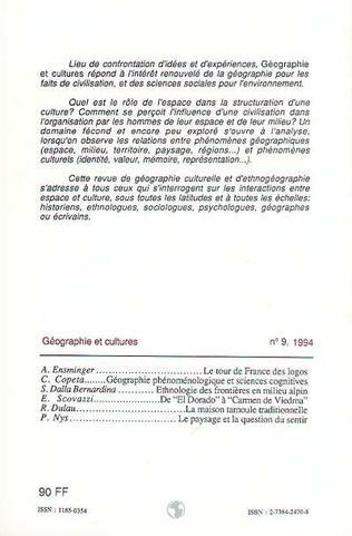 4eme Géographie et cultures n°9
