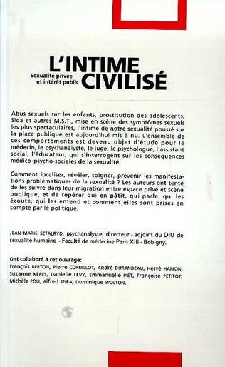 4eme L'intime civilisé