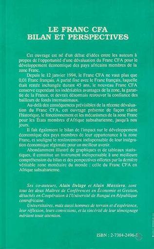 4eme Le franc CFA