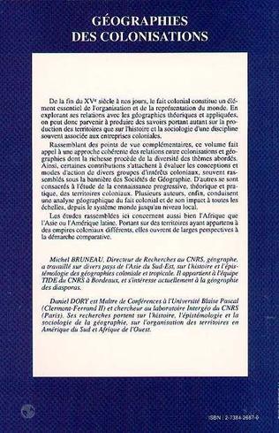 4eme Géographies des colonisations XVè-XXè siècles