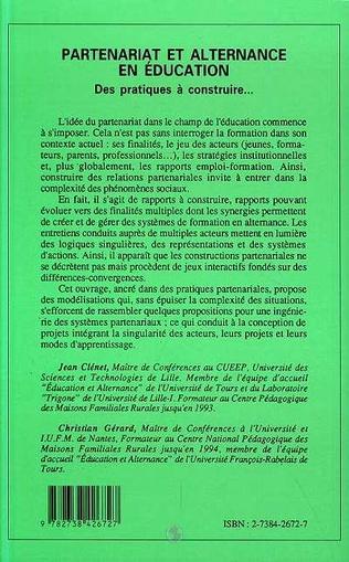 4eme Partenariat et alternance en éducation