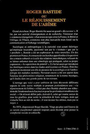 4eme Roger Bastide ou le rejouissement de l'abîme
