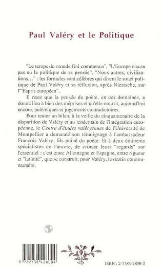 4eme Paul Valéry et le politique