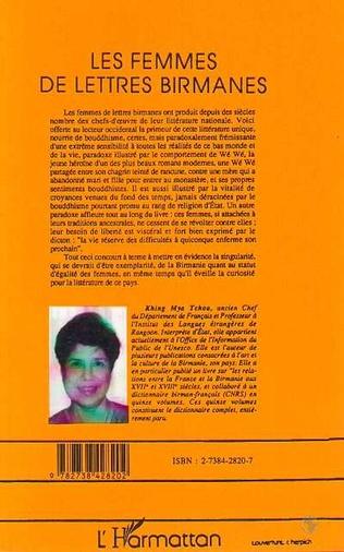 4eme Les femmes de lettres birmanes
