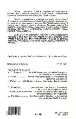 4eme Géographie et cultures n°12