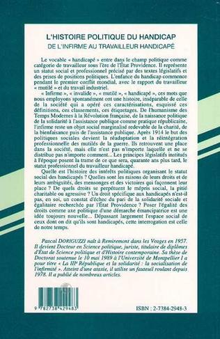 4eme L'HISTOIRE POLITIQUE DU HANDICAP