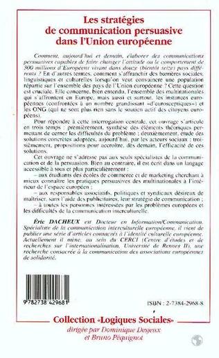 4eme Les stratégies de communication persuasive dans l'Union Européenne
