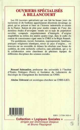 4eme Ouvriers spécialisés à Billancourt