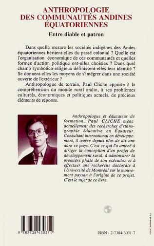 4eme Anthropologie des communautés andines équatoriennes