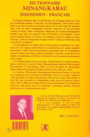 4eme Dictionnaire minangkabau