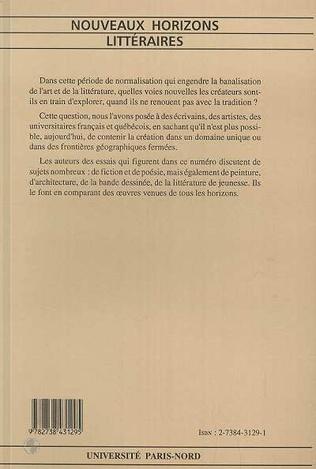 4eme Nouveaux horizons littéraires (n°18-19)