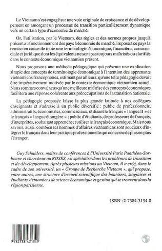 4eme Terminologie économique française à l'intention des apprenants viêtnamiens