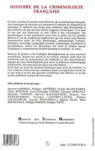 4eme Histoire de la criminologie française