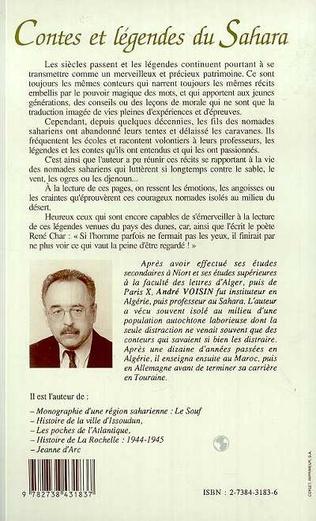 4eme Contes et légendes du Sahara