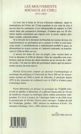 4eme Les mouvements sociaux au Chili 1973-1993