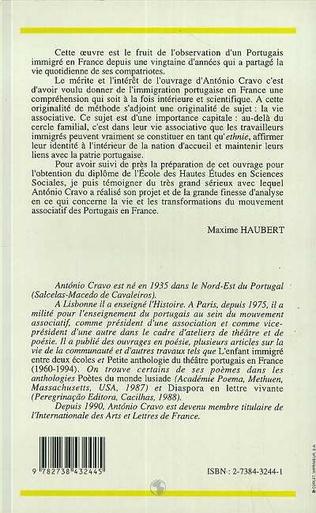 4eme Les Portugais en France leur mouvement associatif (1901-1986)