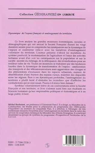 4eme Dynamique de l'espace français et aménagement du territoire