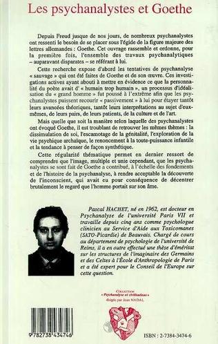 4eme Les psychanalystes et Goethe