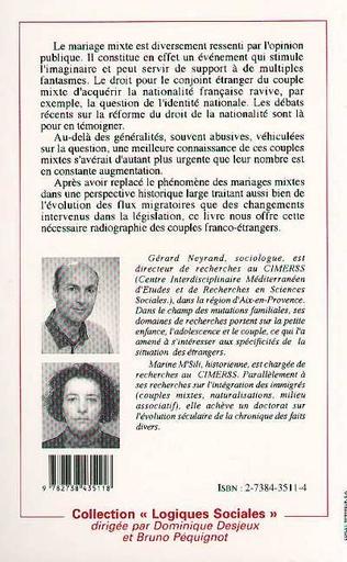 4eme Mariages mixtes et nationalité française