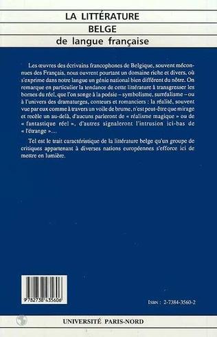 4eme La littérature belge de langue française