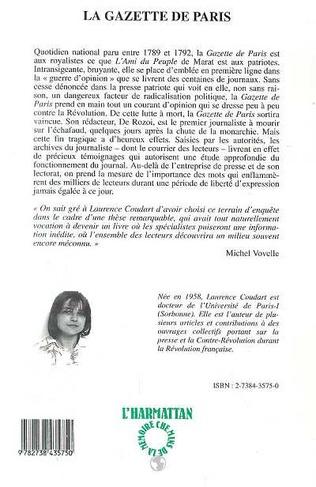 4eme La gazette de Paris