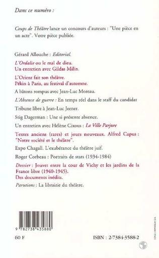 4eme Louis Jouvet entre la cours de Vichy et les jardins de la France libre