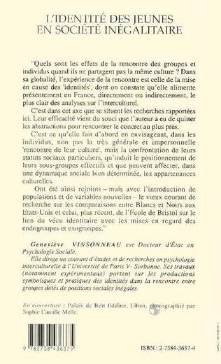 4eme IDENTITÉ DES JEUNES EN SOCIÉTÉ INÉGALITAIRE