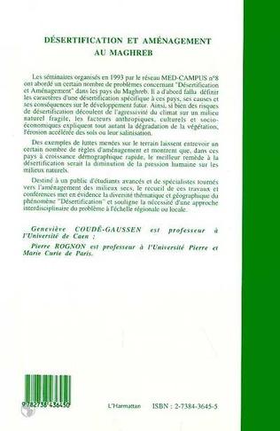 4eme Désertification et aménagement au Maghreb