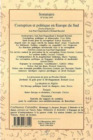 4eme Corruption et politique en Europe du Sud