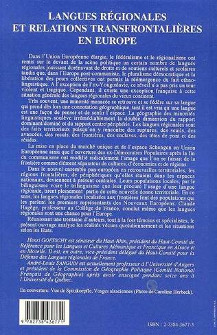 4eme Langues régionales et relations transfrontalières en Europe
