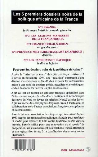 4eme Dossiers Noirs de la politique africaine de la France