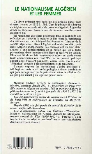 4eme Le nationalisme algérien et les femmes
