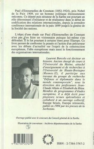 4eme Paul d'Estournelles de Constant (Prix Nobel de Paix 1909)