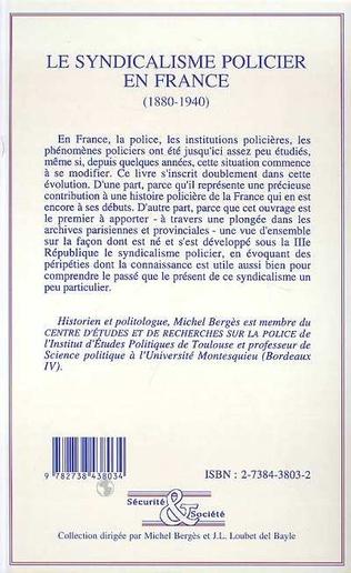 4eme Le syndicalisme policier en France (1880-1940)