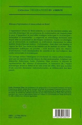 4eme Réseaux d'information et réseau urbain au Brésil