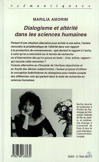 4eme Dialogisme et altérité dans les sciences humaines
