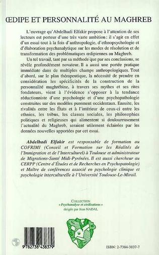 4eme Oedipe et personnalité au Maghreb