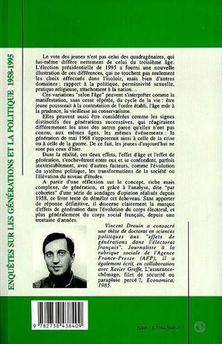 4eme Enquêtes sur les générations et la politique (1958-1995)
