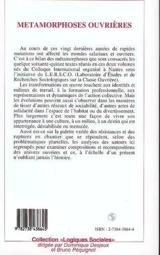 4eme Métamorphoses ouvrières