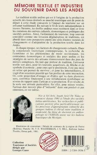4eme Mémoires textile et industrie du souvenir dans les Andes