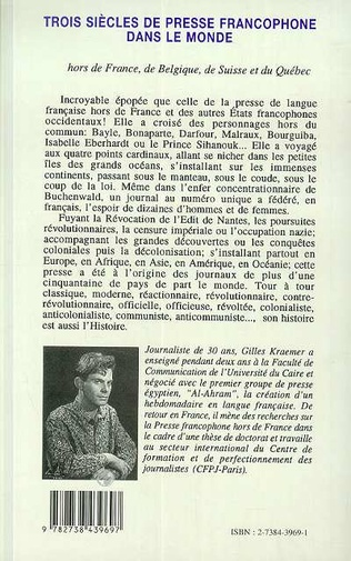 4eme Trois siècles de presse francophone dans le monde