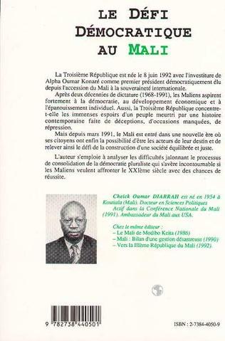 4eme Le défi démocratique au Mali