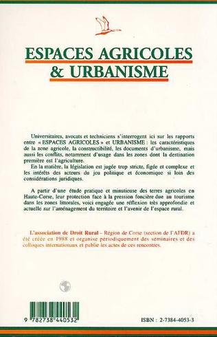 4eme Espaces agricoles et urbanisme
